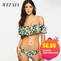 Christmas Gift WEIXIA Swimwear Bandage Sexy Beach Biquini Women Swimsuit Brazilian Bikini Set