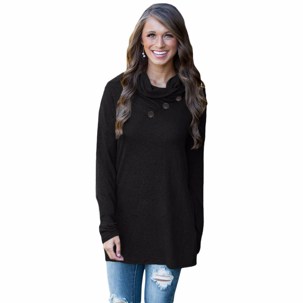Black-Buttoned-Cowl-Neck-Long-Top-LC25977-2-1