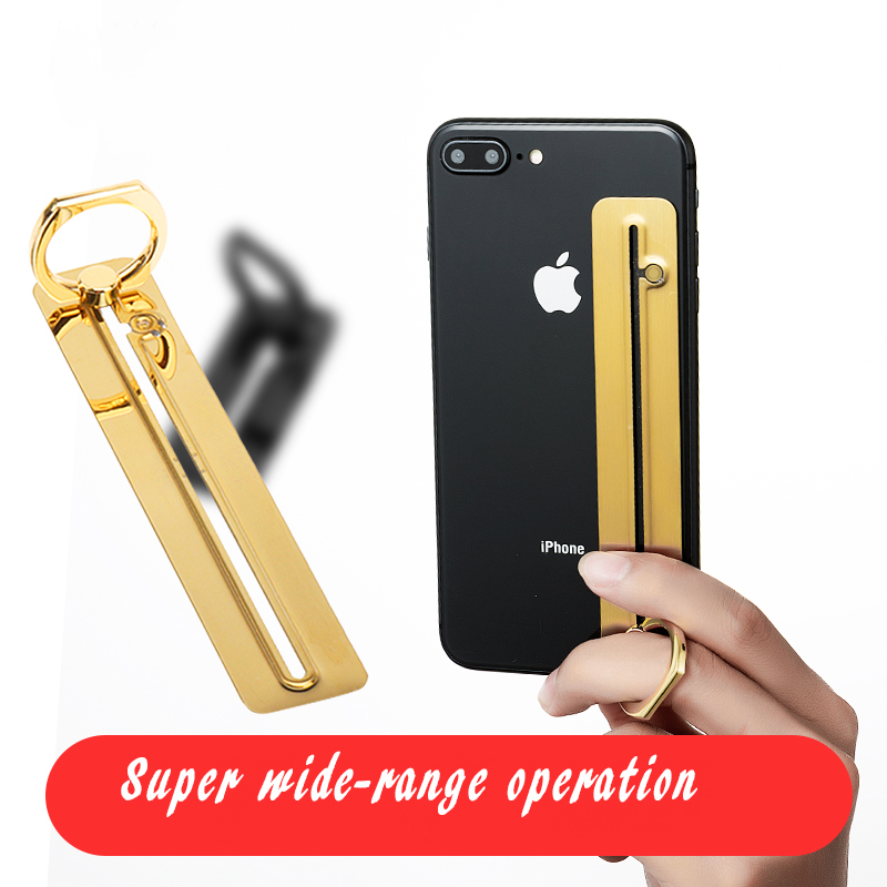 Universal Finger Ring Holder Thin Mobile Phone Ring Holder For Cell Phone Hand Stand 360 Rotatable Slide Rail Grip Metal Stand