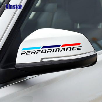 2pcs M Power Performance car rearview mirror sticker for bmw E38 E39 E46 E60 E61 E64 E70 E71 E85 E87 E90 E83 F10 F20 F21 F30 F35 image