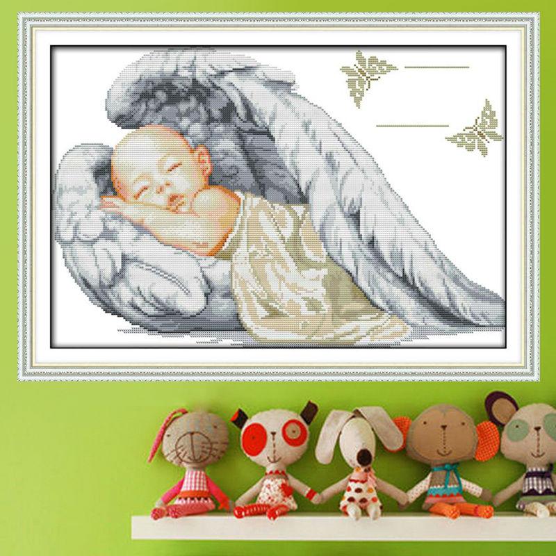 Little Angel Patrones para dormir Puntada cruzada contada 11 14CT - Artes, artesanía y costura