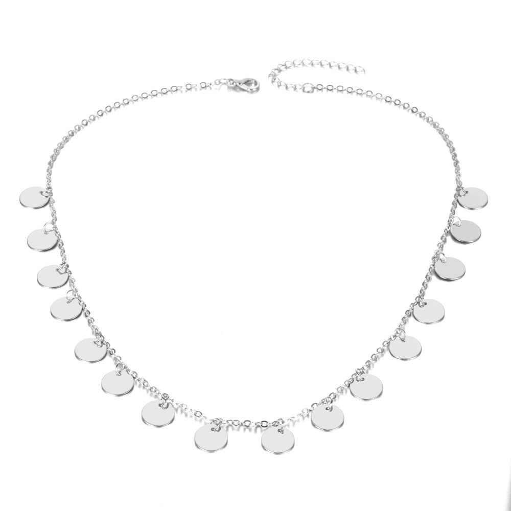 IPARAM, модные золотистые блестки, монеты, кисточка, колье, ожерелье для женщин, Дамское ожерелье, ювелирные изделия