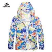 Tectop açık çocuk spor giyim Çocuk Yaz rüzgar geçirmez su geçirmez Ultra-ince ve hafif Cilt Ceket spor giyim 7011
