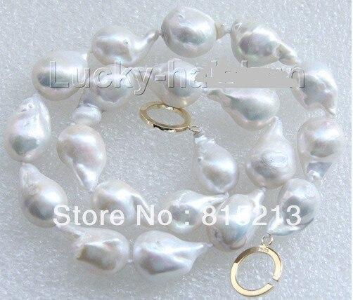 N497 lustre 22mm blanc Reborn keshi perles collier rempli boucle déployante en or 28% de Réduction