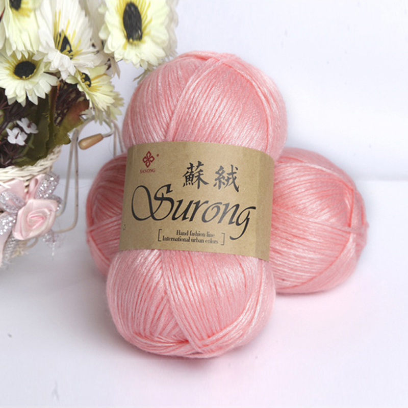 10Colors 100g/roll Double Knitting Crochet Milk Soft Baby Cotton Wool Yarn Hand Knitted Yarn DIY Craft Knit Sweater Scarf Hat' V