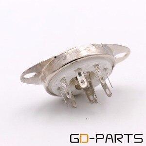 Image 5 - GD PARTS פח זהב מצופה 8pin B8G Loctal קרמיקה ארובות צינור 5B254 4P1S 7N7 C3G תחתון מארז הר בציר מגבר DIY