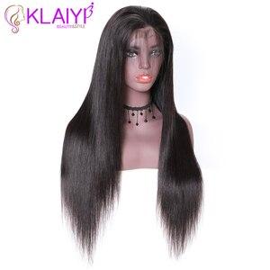 """Image 2 - Klayi pelucas de cabello humano con encaje frontal liso brasileño, 180% de densidad con pelo de bebé, encaje suizo 13*4, cabello Remy de 12 """" 28"""""""