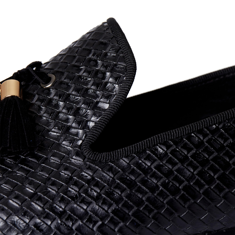 marron Nous 14 Chaussures Taille Harpelunde 6 Robe Noir Gland On Mocassins Hommes Appartements Slip Noir anzUSf6