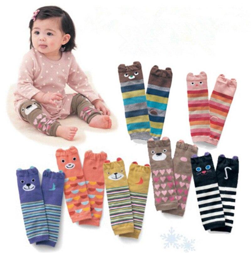 1 Pairs Baby Kinder Cartoon Beinlinge Knieschoner Warme Baumwollsocken 3d Bären Jungen Mädchen Kleinkind Gestreiften Socken 0-5yrs Professionelles Design Beinlinge Jungen Kleidung