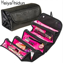 MeiyaShidun Travel Cosmetic Bags Organizer Makeup Bag Women Make Up Case Toiletry pouch Necessaries Wash Bag Storage Hanging Kit