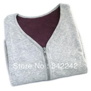 Tourmaline self-heating shoulder pad shirt vest male women's jacket