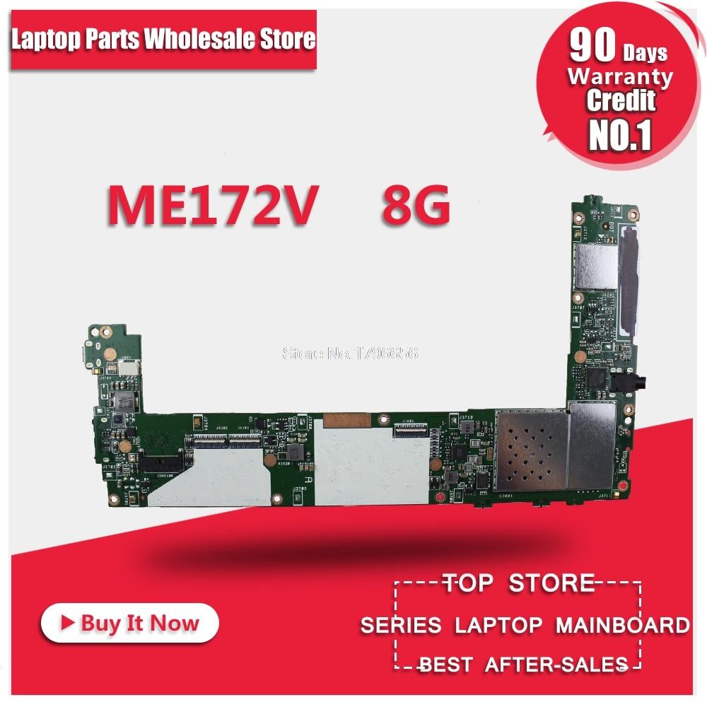 ME172V tablet motherboard For Asus ME172V REV1.4 Mainboard With 8G Memory Tablet motherboard Logic board System Board suitable for lenovo b540 motherboard system board cih77s v1 0 mainboard 2 memory slots 90000814 90002639 90002637
