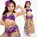 New Arrival Girls Belly Dance Costume Kids Performance Clothing Indian Bollywood Bellydance Costume Suits