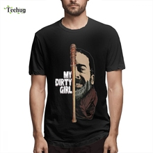 2019 New Arrival Male Look At My Dirty Girl T shirt The Walking Dead Tee Shirt Casual Summer Pure Cotton For Boy Short-sleeved