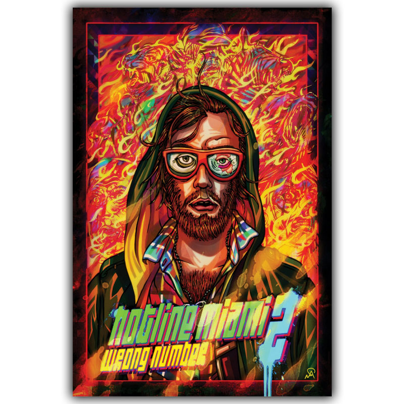 Wall decor hotline miami art silk poster print 12x18 for Living room 12x18