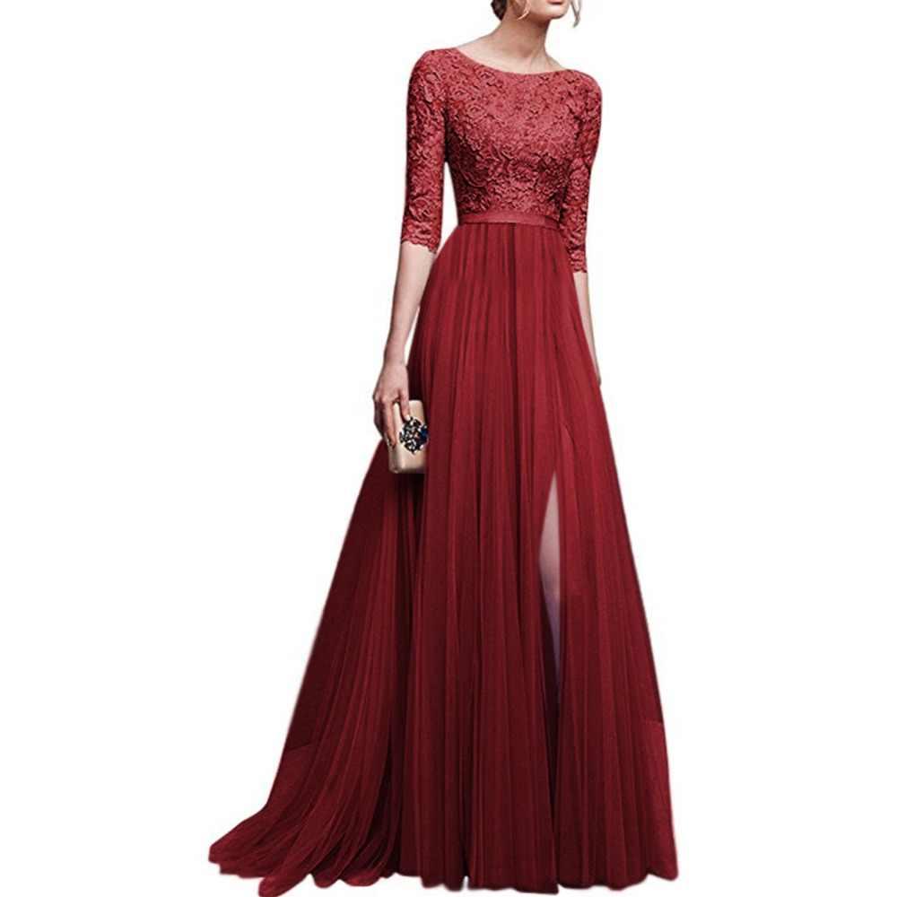 Moda Mujer Vestidos Formales Largos Elegantes De Gasa De