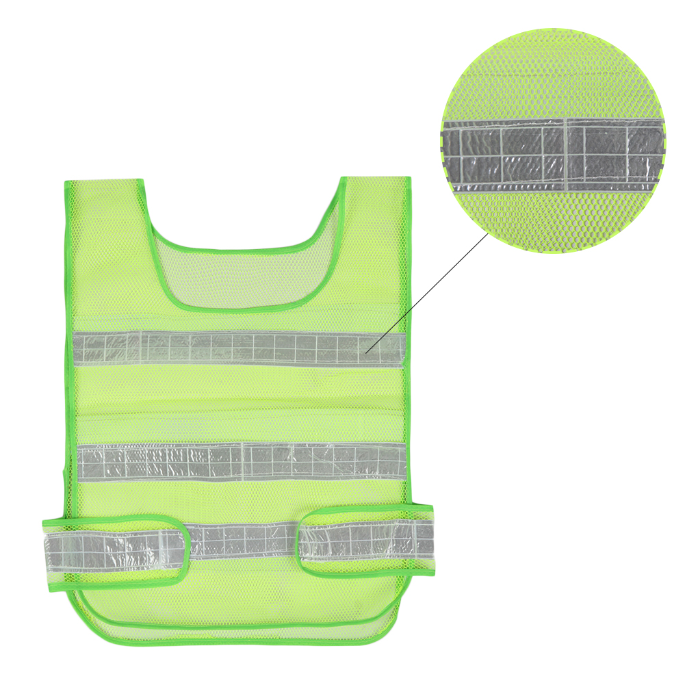 Oprecht Reflecterende Veiligheid Kleding, Ademend Mesh Reflecterende Waarschuwing Vest, Perfect Voor Verkeer Schoonmaken Snelwegen Sanitaire Voorzieningen (rood) Snelle Warmteafvoer