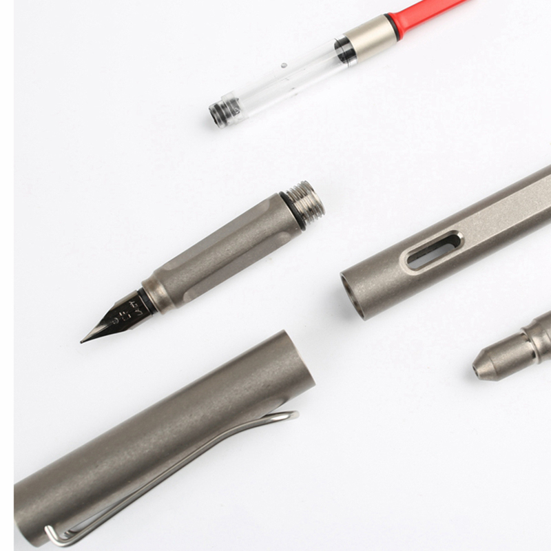 EDC Titanium Alloy Self Defense Survival Safety Tactical Pen With Writing Multi functional Portable Gear Tools EDC - 2