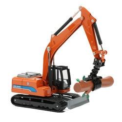 JINGBANG 1: 60 сплав Grab дерево машина модель игрушечной Машины Строительство автомобиля игрушечные лошадки для детей мальчиков подарок