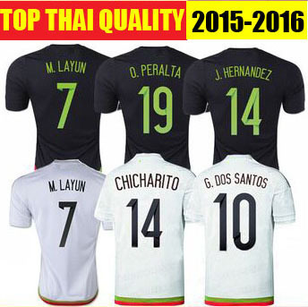 5109809e4 Best Quality 2015 Mexico Home Black CHICHARITO Soccer Jersey 15 16 Mexico  Away Camiseta de Futbol 2016 Mexico Football Shirts