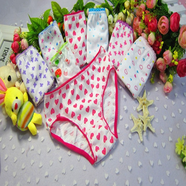 d6080d7a4a1 Baby girls underwear briefs panties 12 pcs lot baby kids floral printed  cotton panties for kids children briefs Free shipping