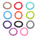 Color Random! Bracelets 100% Food Grade Silicone Teether Loop Bracelet Bangle Soft Beads for Chew Baby Nursing Toy Jewelry Toy