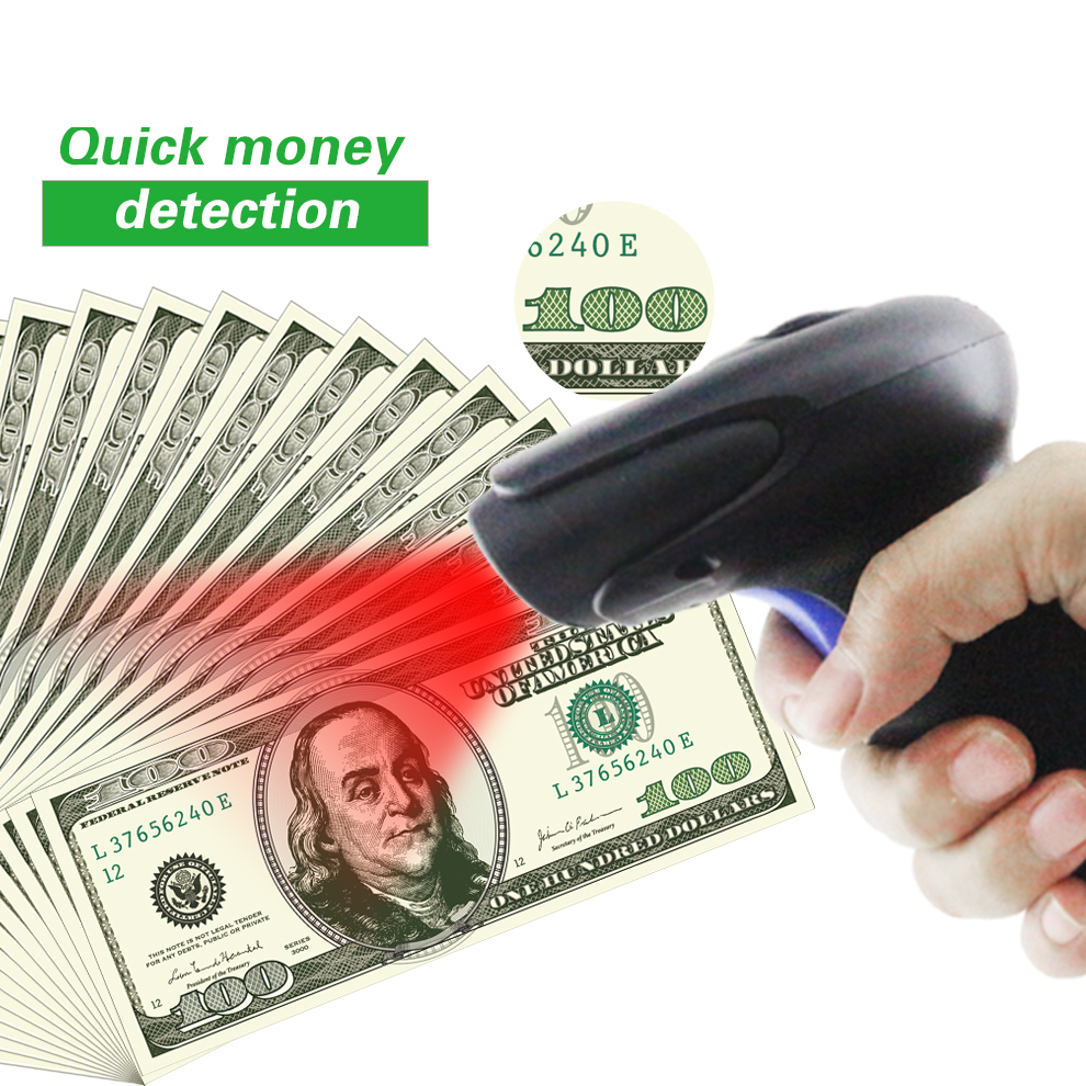 1D Barcode Scanner for POS System with Money detector Function Handheld Document Scanner Wired 1D USB Cable Bar Code Reader hand held 1d laser barcode scanner bar code reader with rs 232 ps 2 interface free shipping for pos