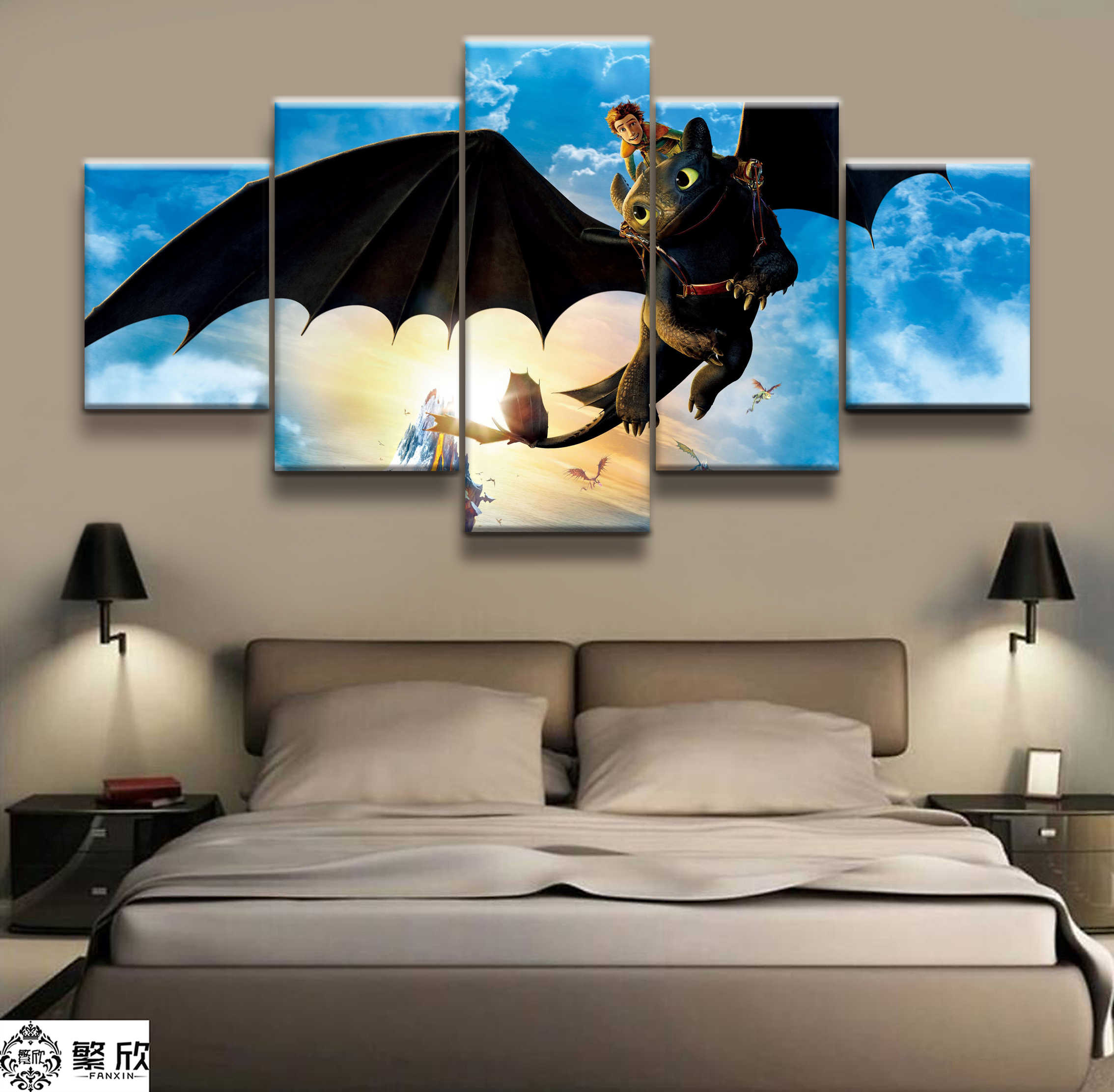 Train Your Dragon Film Poster Canvas