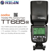 Godox TT685N Camera Flash 2.4GHz Wireless Transmission+i TTL II Autoflash (GN60, High Speed Sync 1/8000s) For Nikon Camera