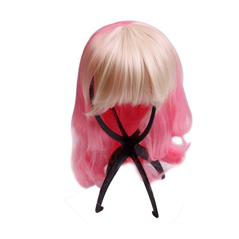 1 قطعة شعر مستعار عرض موقف المعرضة الدمية رئيس قبعة ماسك الشعر للطي مستقرة أداة