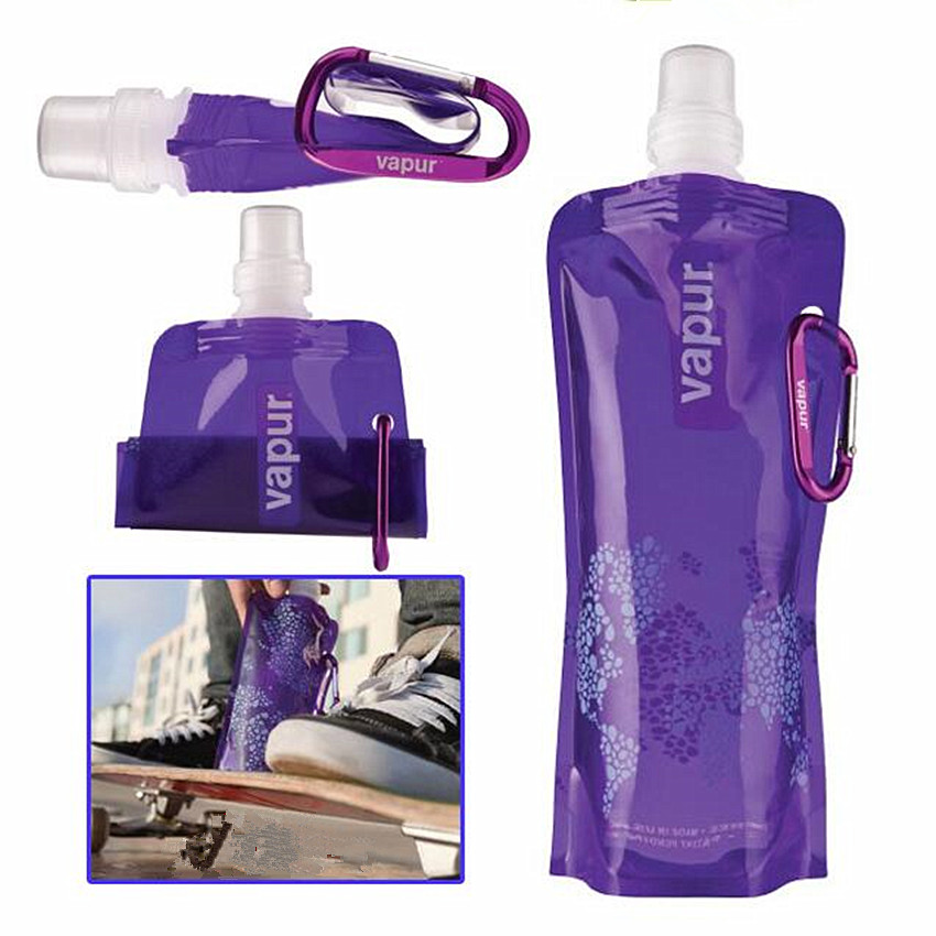 Portable folding Water Bottle with button outdoor sports equipment drinking Water container one piece Sports Water Portable folding Water Bottle with button outdoor sports equipment drinking Water container one piece Sports Water Bottle