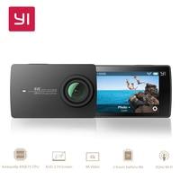YI 4 К действие Камера Xiaomi Yi Спорт Cam Wi Fi 2,19 Сенсорный экран 4 К/30fps 12MP изображений в формате Raw с EIS Транслируй голос Управление