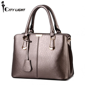 Women Bag Pu Leather Tote Brand Name Bag Ladies Handbag Lady Evening Bags Solid Female Messenger Bags Travel Fashion Sac