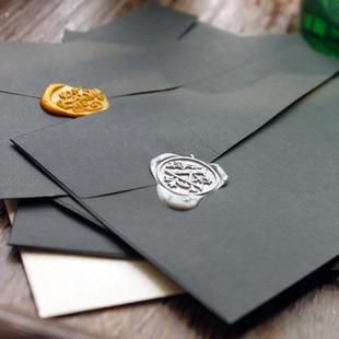 Free Shipping Black Pearl Envelopes Personalized Commercial Envelope Decoration Envelope 50 Pcs/set/wedding Envelope Wholesales