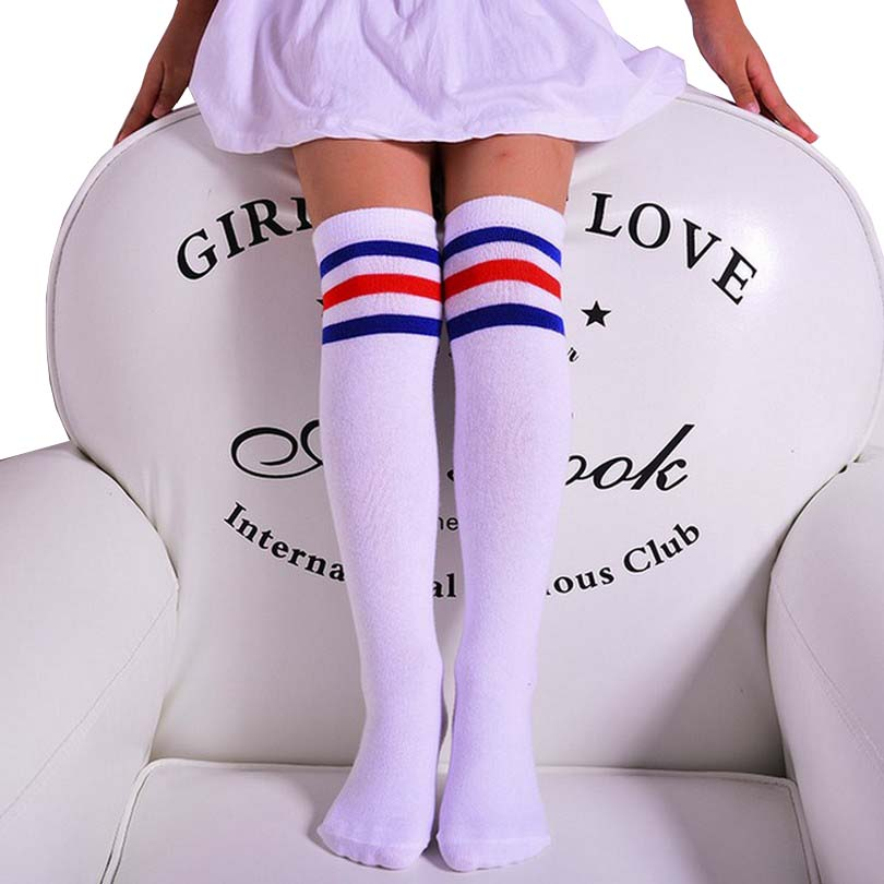 Fashion Thin Dance Stockings For Girls Knee High Stocking with Striped Autumn Children Meia Soft All Match Kid Pantyhose Golf