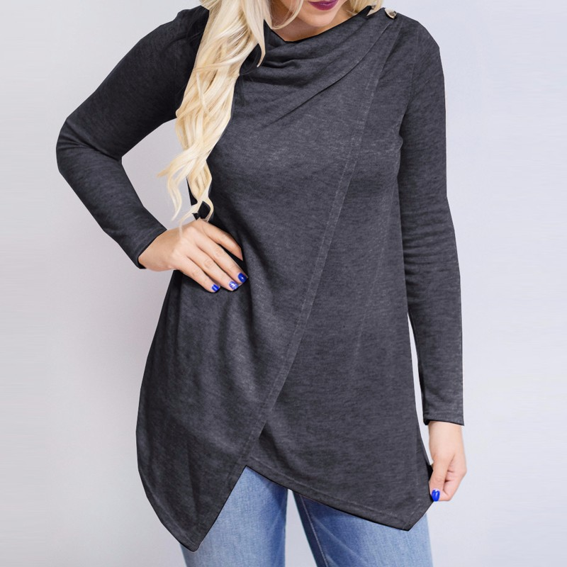 HTB1CqRVOpXXXXaSXpXXq6xXFXXXU - Women Cardigan Long Sleeve O Neck Casual Loose Blouses