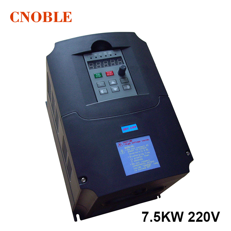 Frequency Inverter, VFD 7.5KW, input 220V output 380V Variable Frequency Drive for 7KW Motor Speed Control, Drive Capacity:14KVA vfd inverters ac drive 5 5kw motor input voltage 220v output voltage 380v variable frequency drive free shipping