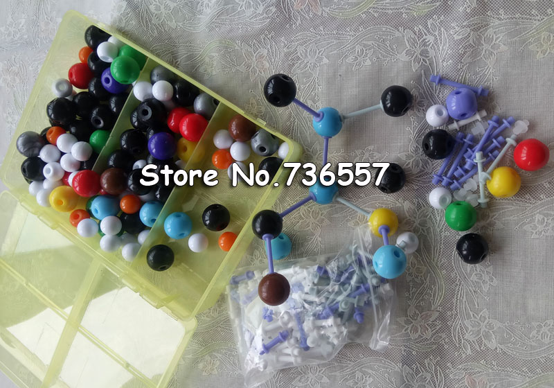 New 267PCS Molecular Model Set Kit General And Organic Chemistry Learning Educational Model Set For School Student Children molecular model kit lz 23177 chemistry organic molecule structure models set student and teacher estuches school free shipping
