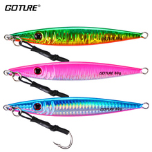 Goture 3pcs/lot Metal Spoon Jigging Lure Slow Pitch Lead Fish Sea Bass Fishing Lure Hard Artificial Bait 80g 100g 150g 200g 300g