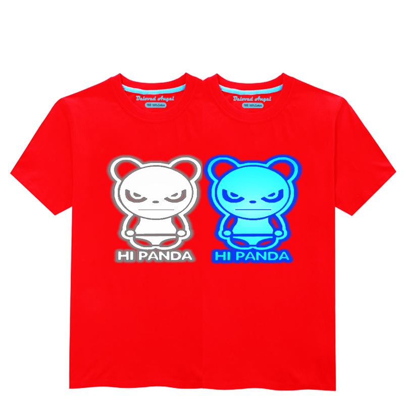 HTB1CqRtkTZmx1VjSZFGq6yx2XXab - Luminous Short Sleeves T-Shirt For Boys T Shirt Spiderman Christmas Teen Girls Tops Size 3-15 years Teenage Toddler Boy Tshirts