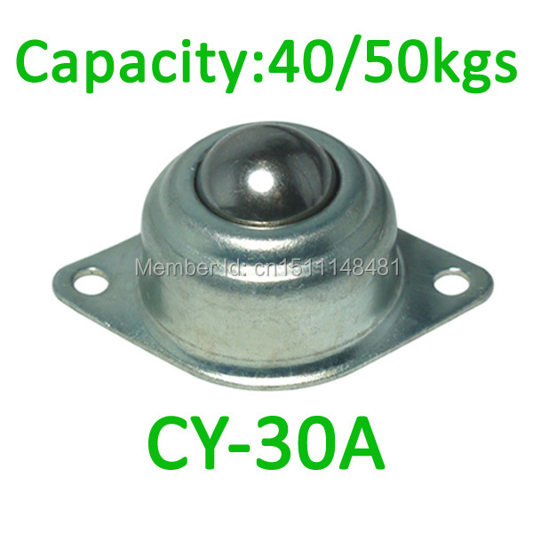 4pcs CY-30A 30mm Ball 40kg capacity Pressed Disc Ball Transfer Unit CY30A Mild Carbon Steel Ball Caster Bearing Conveyor Roller
