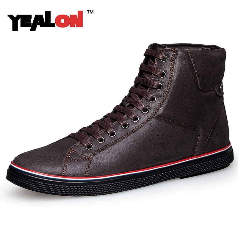 ФОТО YEALON 2016 Spring/Autumn Boots Ankle Motorcycle Comfortable Fashion Boots  Lace Up Fashion Women Boots Plus Size 37-46