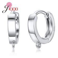 Женские серьги кольца из серебра 925 пробы 1 пара