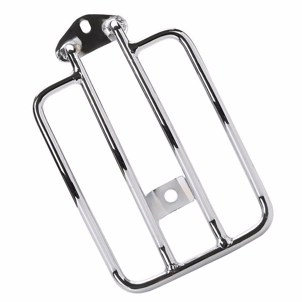 Chrome Solo Luggage Carrier Fender Rack For 2004-Up Harley Sportster XL 883 1200