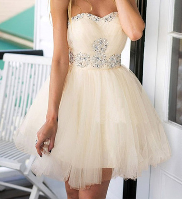 67f22cdb69 Sweet Plus Size Homecoming Dresses 2016 Tulle Sweetheart 8th Grade Formal  Dresses Beads Corset Cocktail Short