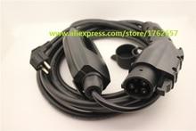 Sae j1772 EVSE вход Duosida Уровень 2 зарядное устройство Портативный 16A schuko штекер 5 м тип 1 автомобильное электрическое зарядное устройство режим EVSE 2 в наличии