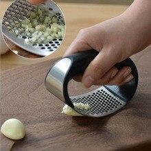 GODWJ Stainless Steel Garlic Press Grinding Slicer Mincer Metal Novelty Kitchen Accessories Ginger Crusher Chopper Cutter
