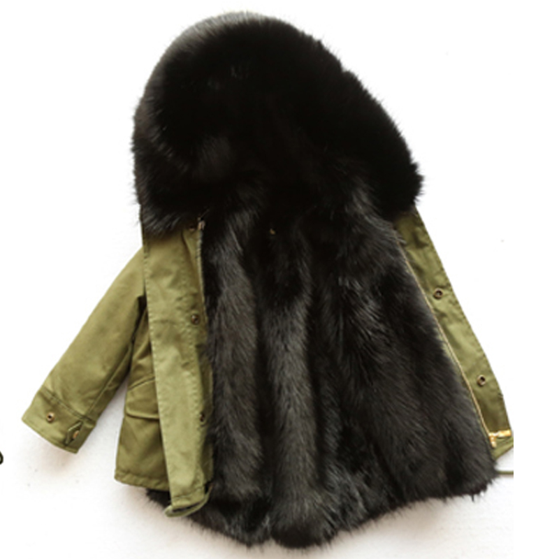 2018 New Winter Girls Warm Coat Overcoat Kid Long Colorful Faux Fox Fur Coat Big Raccoon Fur Collar Hooded Thick Warm Parkas цена