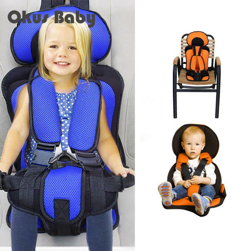 Portable Baby Chair  In Car Child Safety Seat Infant Safe Children's Chairs Soft Comfortable Adjustable Booster High Chair Cover