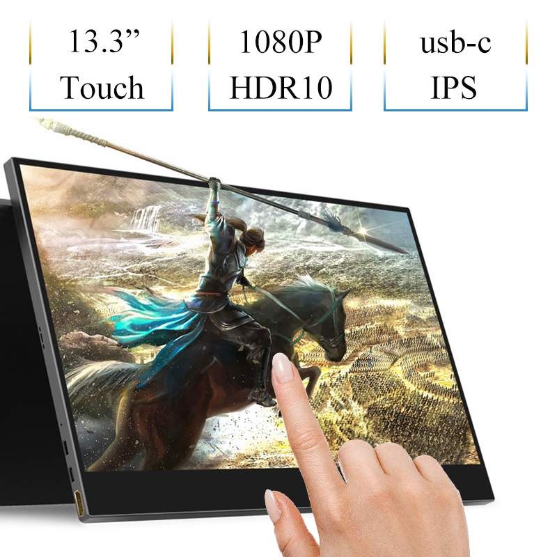 13 3 Inch HDMI Capacitive Touch Monitor USB Type c Support Power Supply Data Transfer Touch